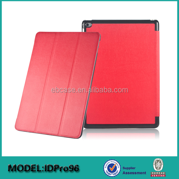 3 folding smart cover for ipad pro case,for ipad pro stand leather case