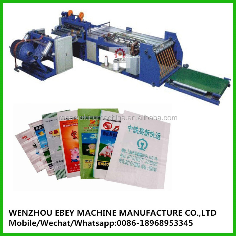 rice bag Bag Type and Cutting Machine Machine Type woven bag automatic cutting and sewing machine