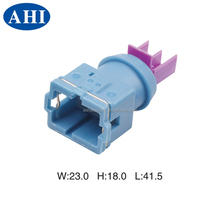 (1-144476-1) 2 pin female blue plastic wire waterproof automotive electric housing connector