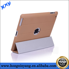 for ipad3 flip stand leather case ,magnetic flip leather cover