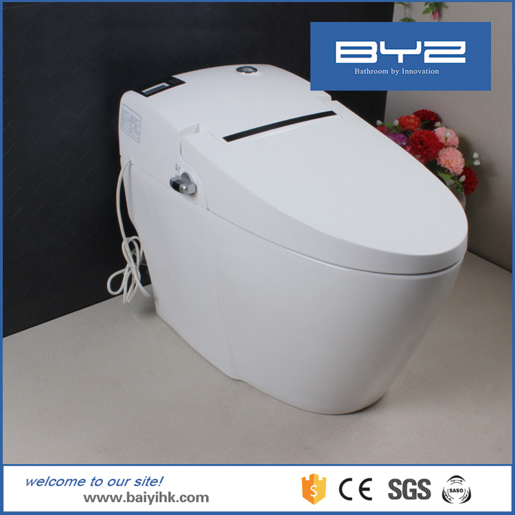 Automatic Operation Smart Elegant Black Floor Mounted Intelligent Toilets WC