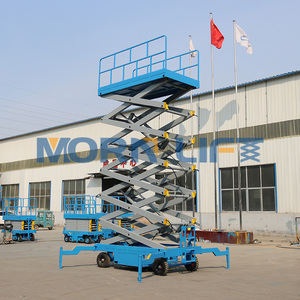 14m moveable hydraulic scissor ladder lift for painting