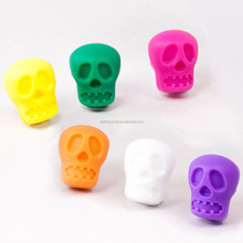 Skull Wine Glass Stoppers And Markers, Silicone Skull Drinking Buddy Glass Markers Sets, Bottle Stopper and Stopper Sets