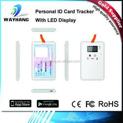 Newest mobile phone gps tracker, small ID card gps tracker, child anti kidnapping gps tracker