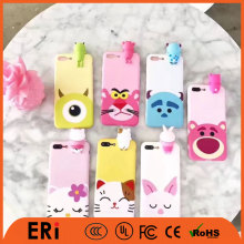 Cute shockproof custom cartoon animal universal mobile custom silicone phone case for iphone