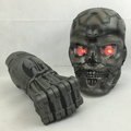 safe material make custom plastic toy/customized assemble plastic toy/custom made set grey mask plastic toy