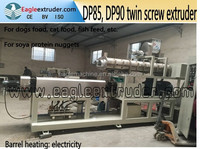 Jinan Eagle various kibble pet cat food and dog food pellet twin screw extruder machine