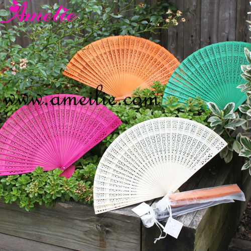 Customized Sandalwood Hand Fan Wedding