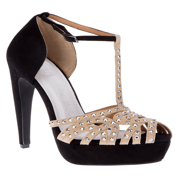 2015 T-strap Women Shoes Suede Platform Cone High Heels Peep Toe Decorated With Rhinestone Summer Party Ladies Sandals