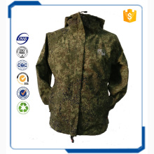 wholesale top sale fashion waterproof breathable with three layer combined fabric camo jackets