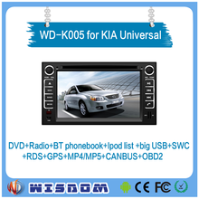 "WISDOM 6.2"" Android 4.4.4 Car dvd player for KIA Euro Star Universal 2004-2011 car multimedia system stereo with GPS navigation"
