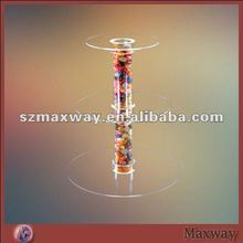 3 Tiers Circle Tube Acrylic Cake Stand