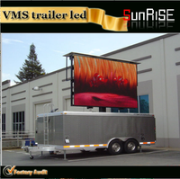 Mobile Truck trailer led display screen for the p6 p8 p10 witht the tv wall video screen