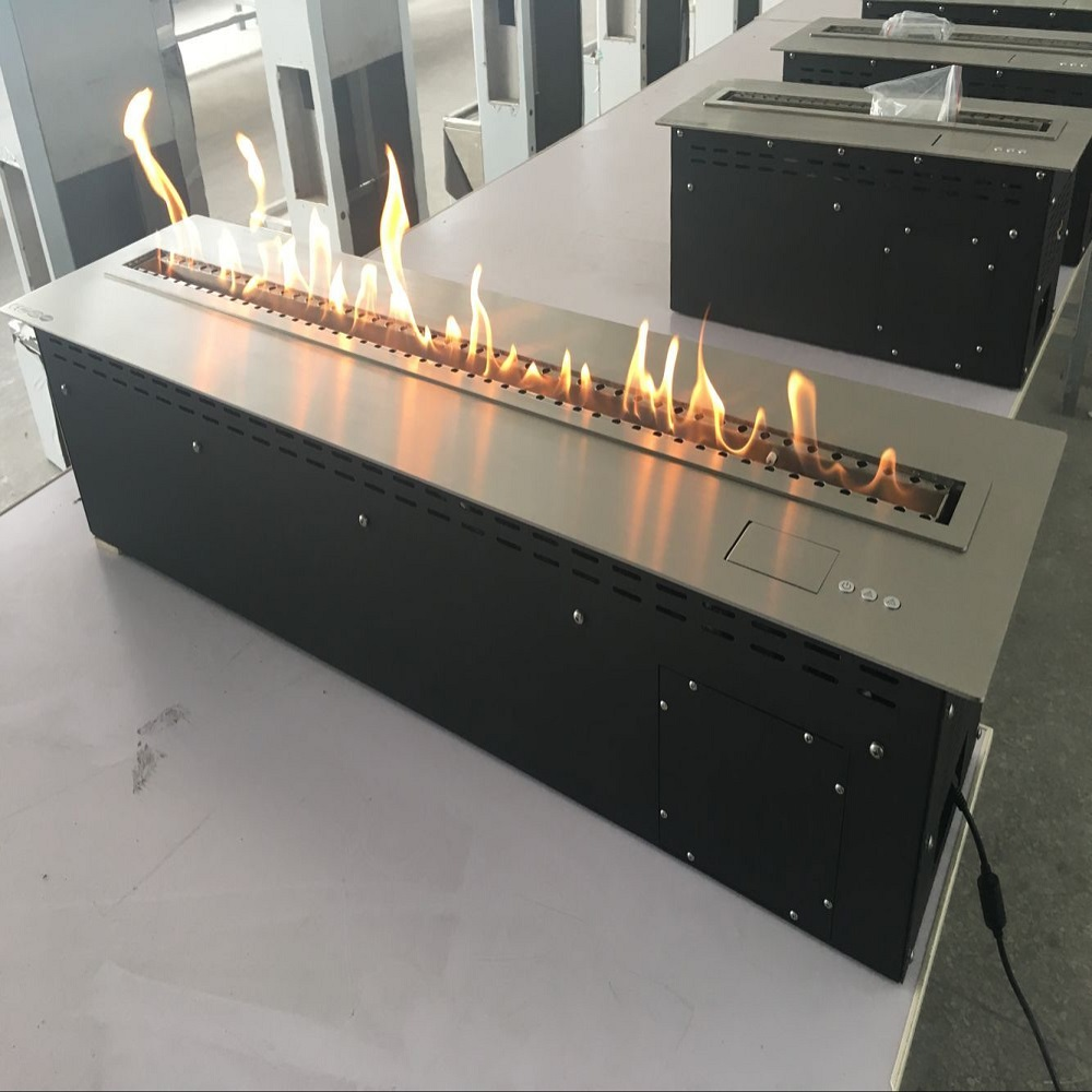 remote control automatic bio ethanol fireplace with WLAN