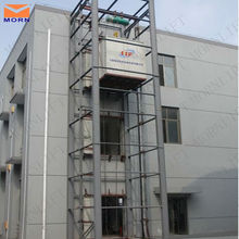 Workshop equipment low price hydraulic vertical electric man lifts platform with steel powder coated cabin
