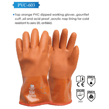 China Factory long PVC Coated Skin Colour Gloves