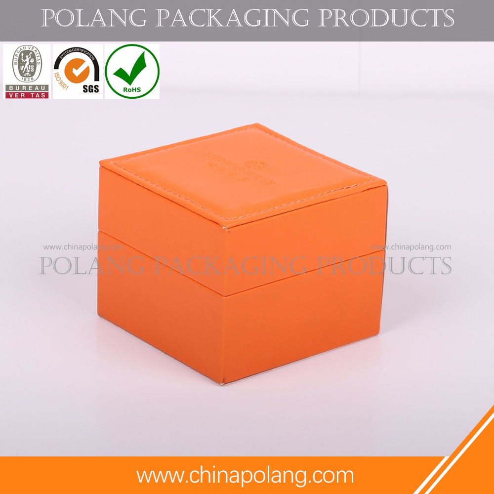 Luxury Cylindrical Paper jewelry Packaging Box with Silver Foil Stamp