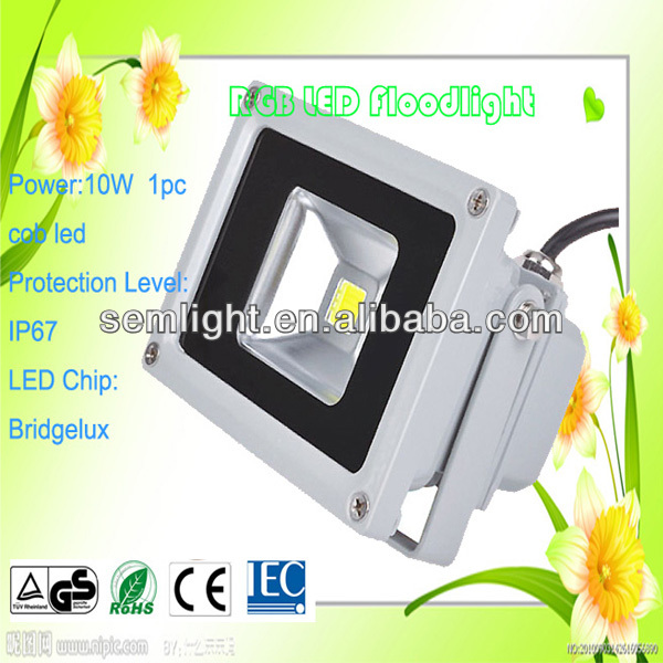 Grey/Black Housing 10W DMX Controlled LED Floodlight