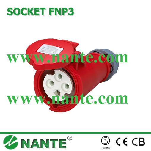 Industrial Plugs and Socket 4P, 16A, 32A, Waterproof IP44 Coupler FNP3-214 MENNEKES TYPE