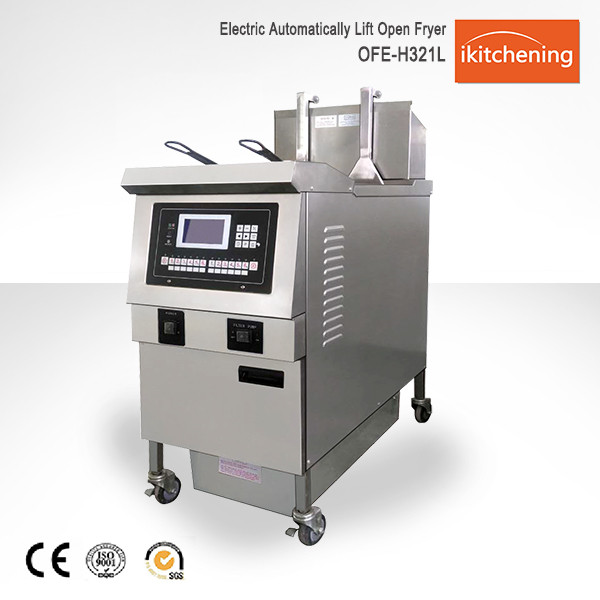 With Filtration System Chicken Cooking deep Fryer, automatic open fryer, donut fryer machine