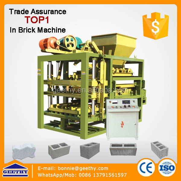 hollow blocks machine price photos QTJ4-25 concrete hollow block maker