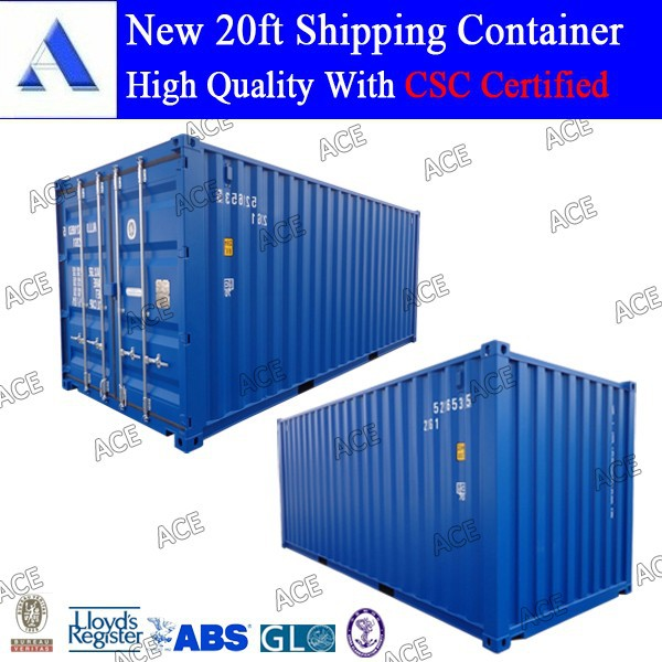 CSC certified new 20 feet iso container dimensions for sale