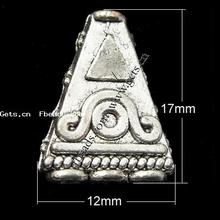 triangle zinc alloy cone beads
