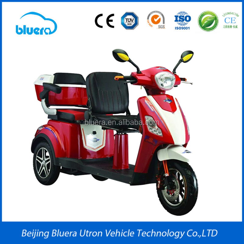 Hot selling Bluerebike Leisure T3 3 wheel electric tricycle for 2 person