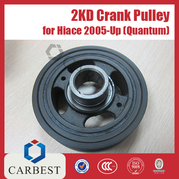 High Quality Engine Parts 2KD Crank Pulley for Toyota Hiace 2005-Up Quantum OE:13408-
