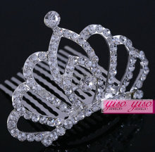 clear kids wholesale princess real diamond bridal tiaras