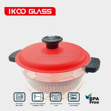 High borosilicate Heat-resistant Glass cooking pot/steamer 3sizes