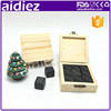 Ice Cube With Logo AIDIEZ Granite Bar Accessories Whisky Rocks
