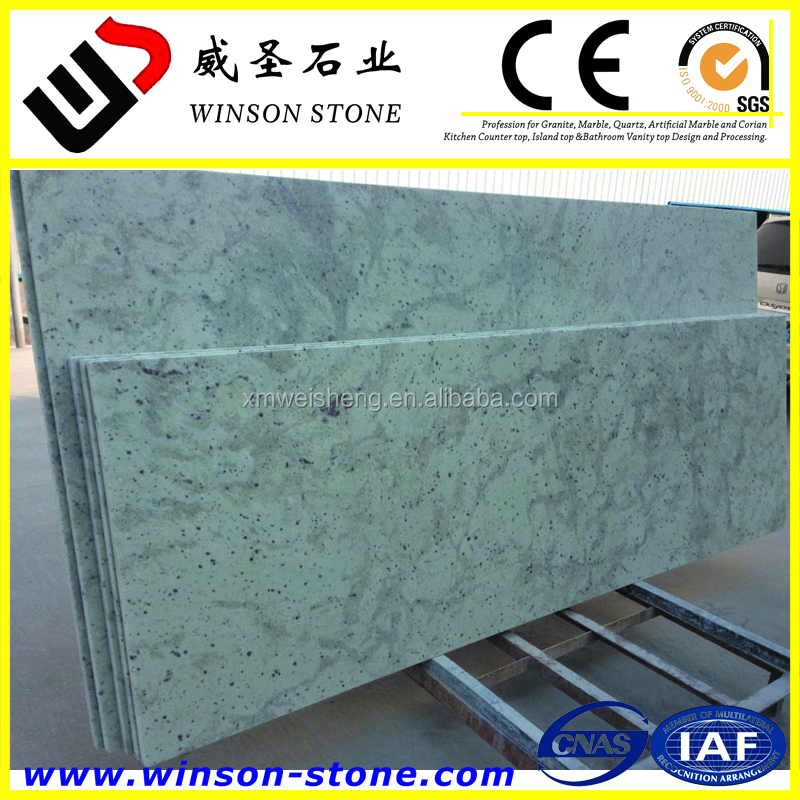 Andromeda White mode design pre cut granite table top