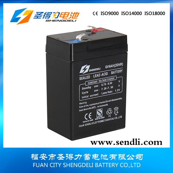 VRAL Storage Sealed lead acid battery 6v4ah for Emergency lighting equipment