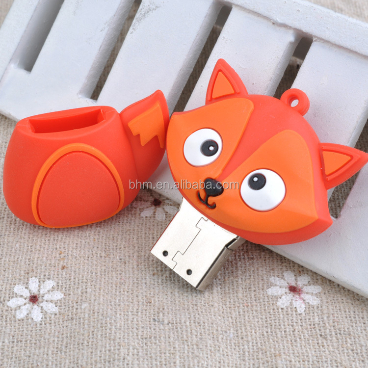 Best selling mini usb drive fox shape cartoon cute usb stick