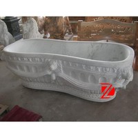 solid surface freestanding bathtub with lion head