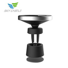 Best sell portable wireless cell phone fast charging pad qi mobile magnetic car charger