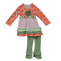 Sweet Girl Clothing Ruffle Girl Outfits Wholesale Children's Boutique Clothing