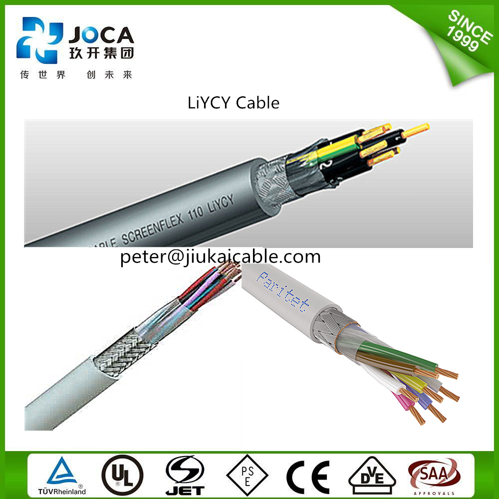 VDE Standard Flexible Stranded Bare Copper Liycy Cable