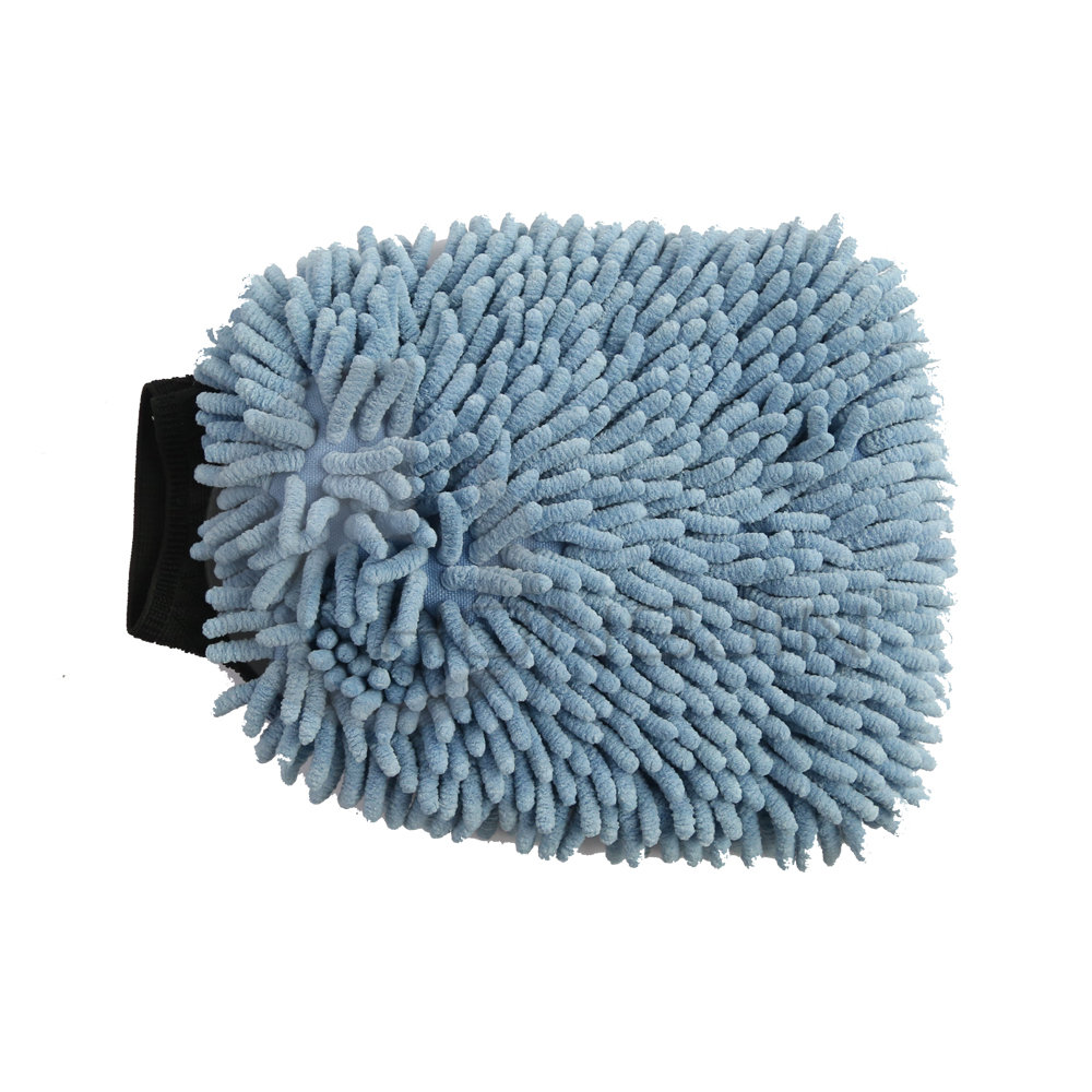 Hongjin 2 in 1 Microfiber Noodle Wash Dusting Mitt for Car Care