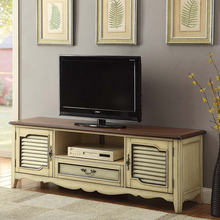 1 drawer and 2 doors living room wood tv cabinet