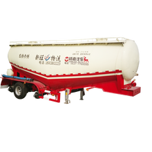 3 Axle Dry Bulk Cement Tanker Semi Trailer With Air Compressor