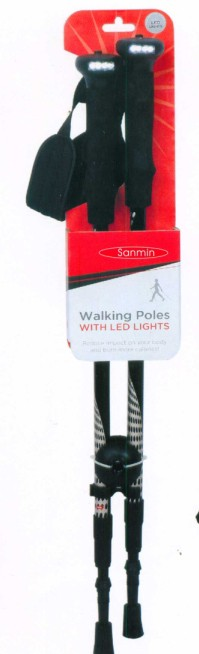 Trekking pole with LED light