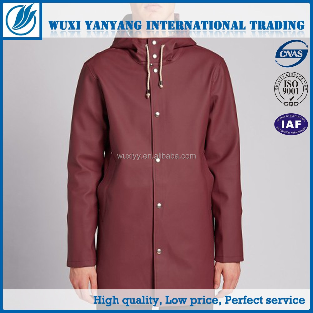 180T fabric rubber nylon rain suit for adult