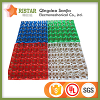 plastic egg tray in color with free sample stackable egg tray