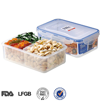 China manufacture 3 compartments food storage container with lid