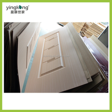 Alibaba China Factory New design molded PVC/WPC sheet wood door panel/skin with cheap price
