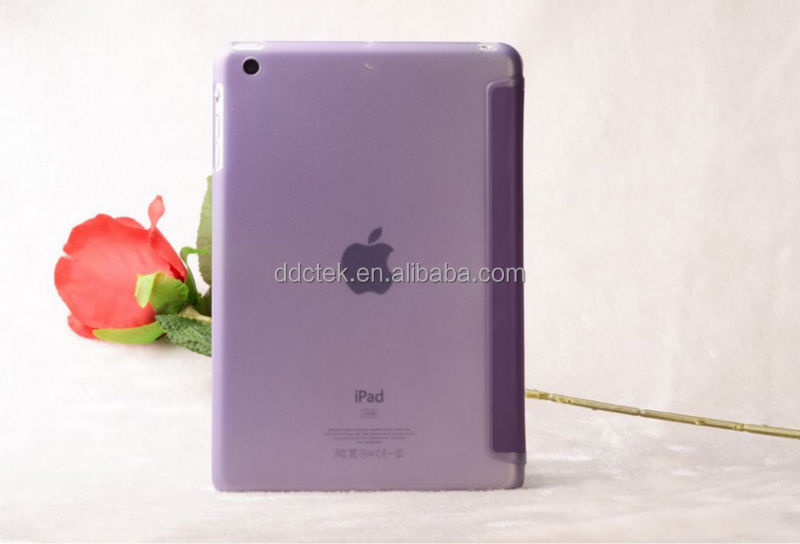 Popular purple PC PU cover for ipad case for apple ipad air