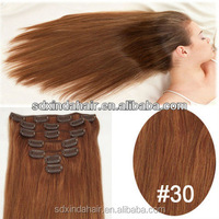 Wholesale Price peruvian remy virgin human hair weave machine made human hair weft 30 inch clip in human hair extensions