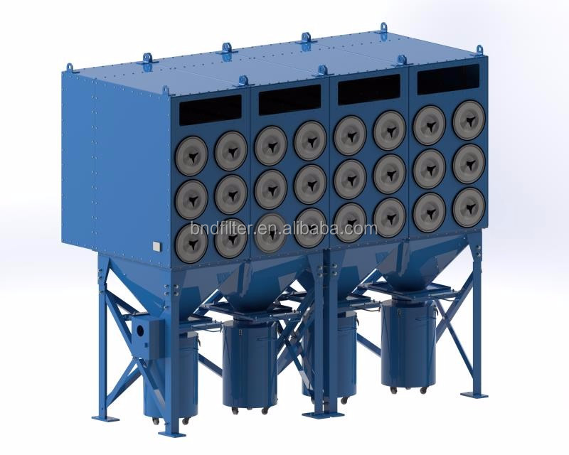 Horizontal Filter Cartridge Dust Collector Machine Cartridge For Powder Coating